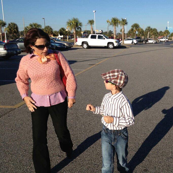 Walking toward Myrtle Beach Dickens Christmas Show 2012 venue