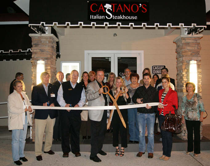 Castano's ribbon cutting