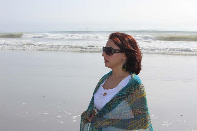 Emanuela Neculai- silk scarf