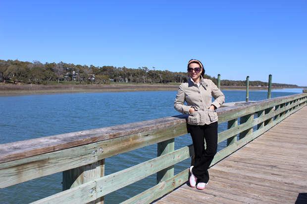 Emanuela Neculai- Style Strand Fashion, on the fishing dock