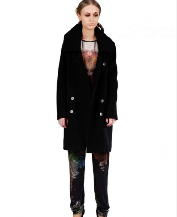 Freak Factory black coat - Style Strand Fashion