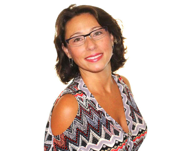 Emanuela Neculai wearing eyeglasses
