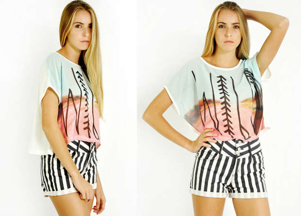 Into the wild top paired with shorts is the perfect outfit for a day at the beach.