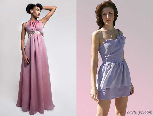 Sequin silk purple gown and  shoulder light purple dress