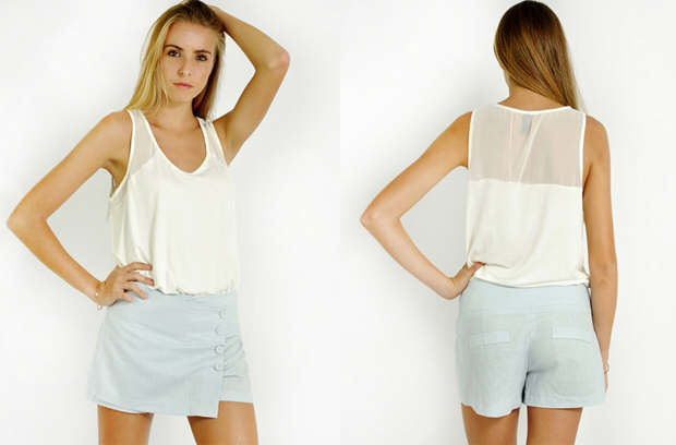 Linen shorts are  fashion favorite for a stylish look at the beach.