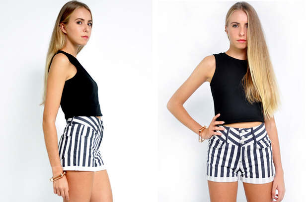 Striped shorts essential piece for beach vacation