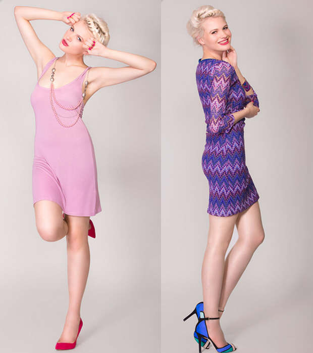 Pink ad purple flattering colors for Spring 2014