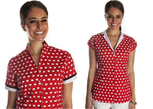 With Carina Cuore mandarin shirt you get three looks