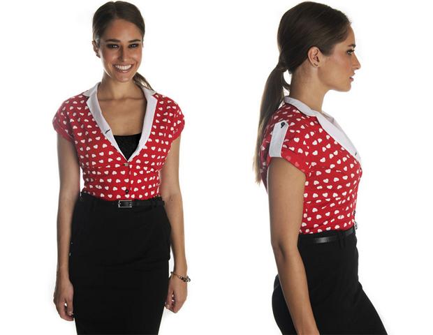 Carina Cuore mandarin shirt - office style