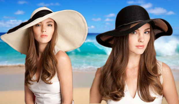Sunny ivory  and Honey black toyo sunhat