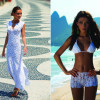 An irresistible look in white crochet dress and shorts