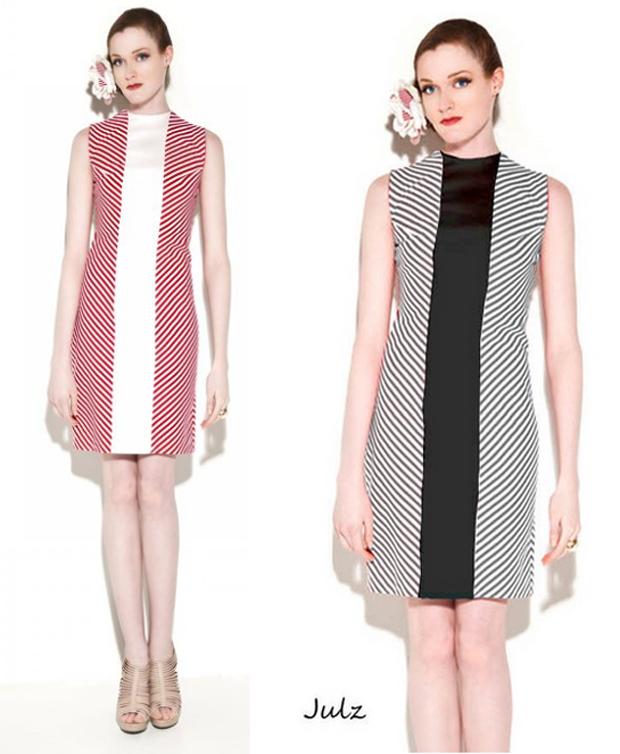 Julz A line dress with fun pattern