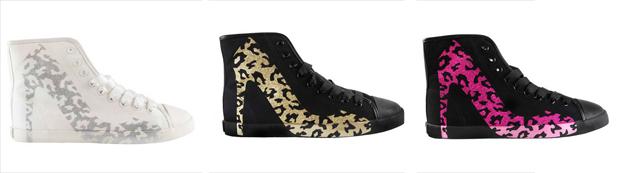 Leopard print sneaskers
