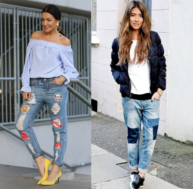 Patched jeans - fall 2016 fashion trend