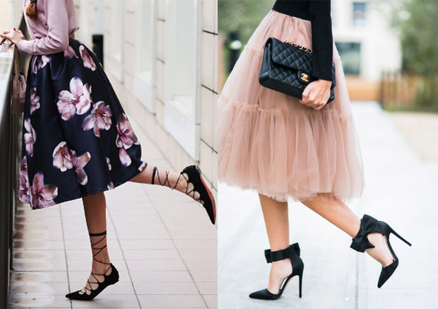 Tull and floral skirts for daily wear