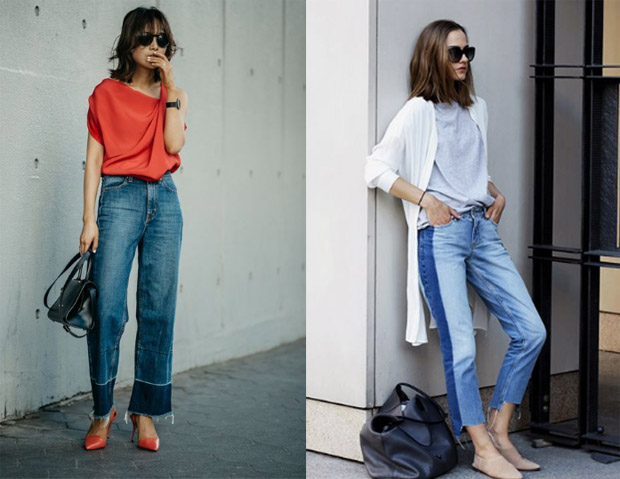 two shades jeans for a classic yet stylish look