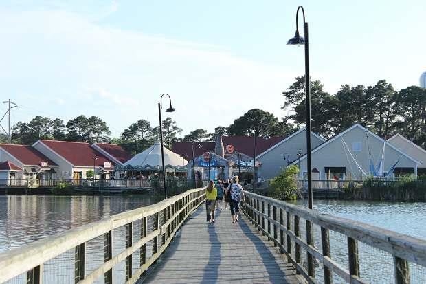 Barefoot Landing Wooden Bridge